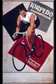German cycling poster - Torpedo Fahrrader